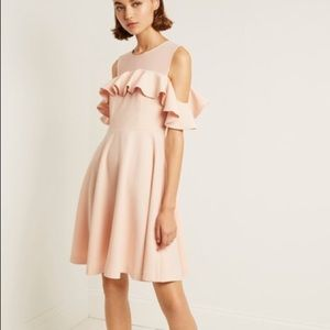 French Connection 8 Flare Cold Shoulder Dress